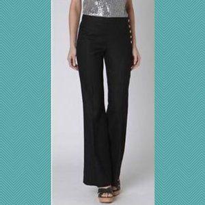 Cartonnier Andros Black Linen Blend Wide Leg Pants